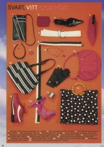 Photo in Allas Magazine featuring accessories designed by Anki Andersson