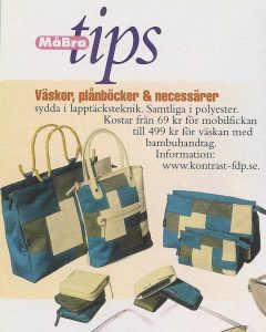 Article in Må bra Magaine featuring accessories designed by Anki Andersson