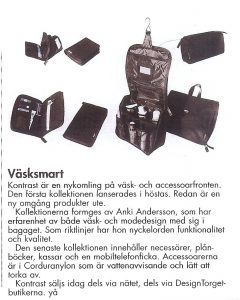 Article in Sko Handlaren Magazine featuring accessories designed by Anki Andersson
