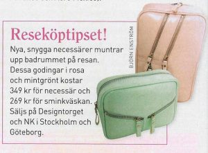 Article Vecko Revyn Magazine featuring accessories designed by Anki Andersson