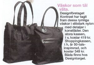 Article in Året Runt Magazine featuring accessories designed by Anki Andersson