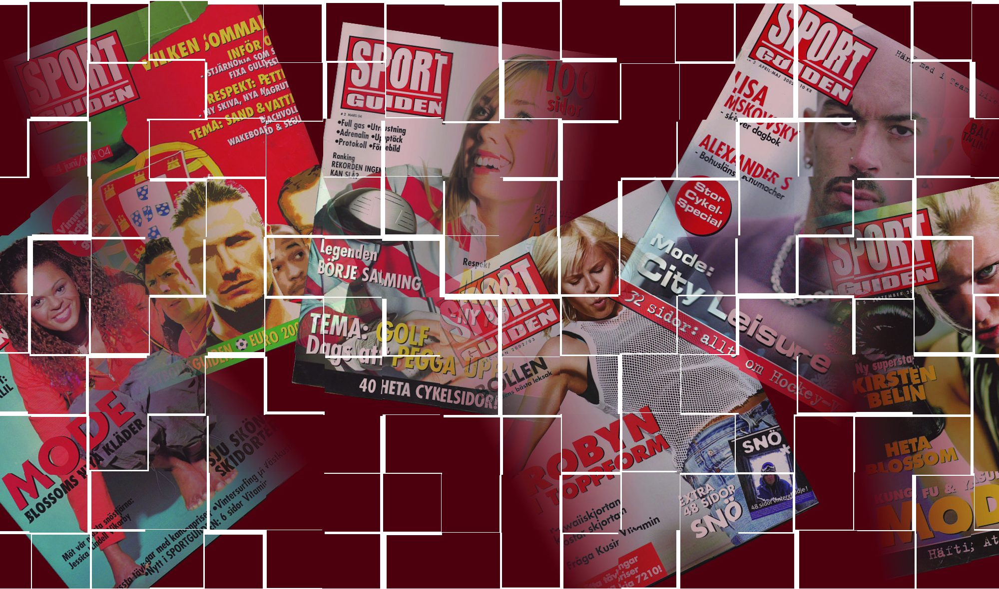 Sportguiden Magazine Covers collage